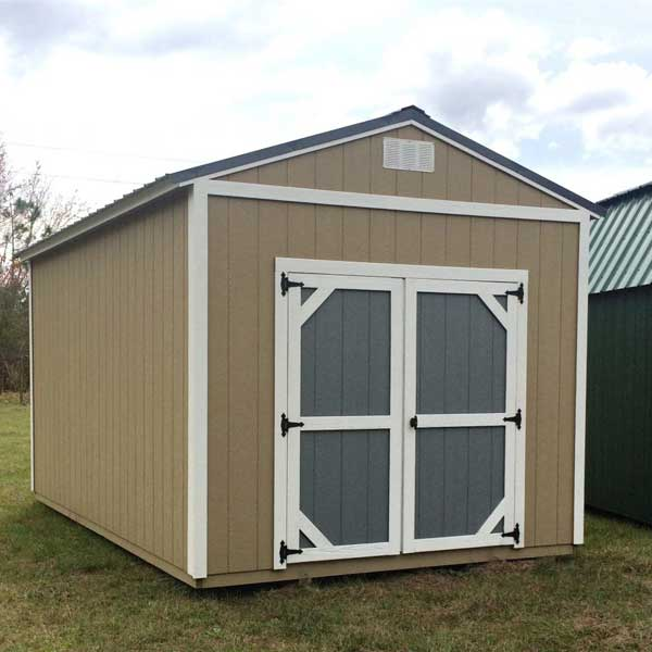 garden sheds with two tone doors by coastal portable buildings starke florida