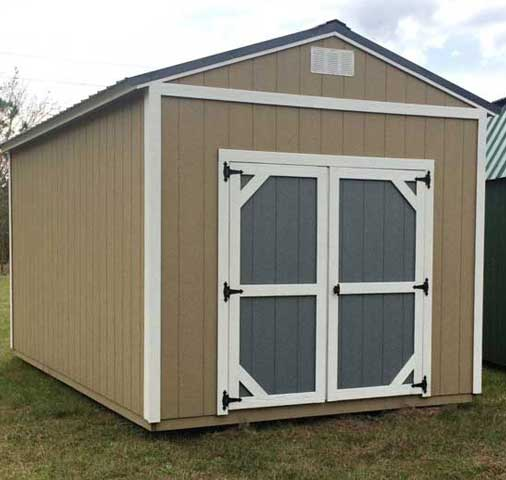 Two Tone Garden Shed By Coastal Portable Buildings Starke Florida